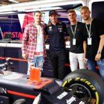 F1ドイツGPにRBライプツィヒの選手達が訪問