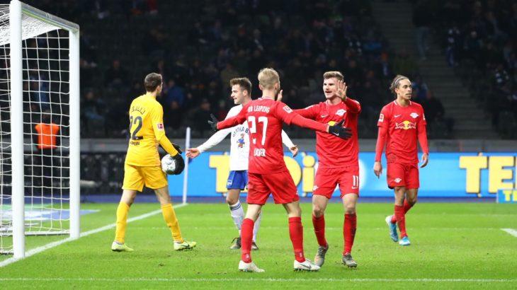 RBライプツィヒのヘルタ・ベルリン戦kicker採点と今節のベストイレブン