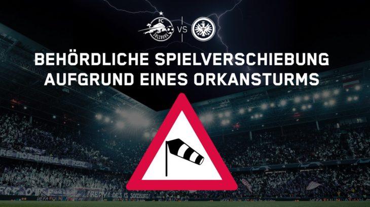 ELザルツブルクvsフランクフルトの試合がハリケーンの影響で延期に