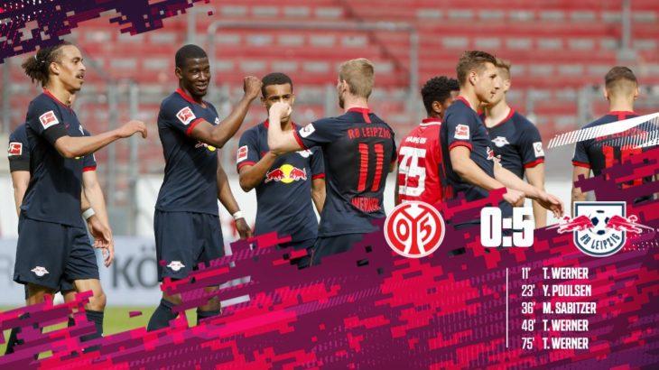 RBライプツィヒ、ヴェルナーのハットトリックなど5ゴール大勝 今季のマインツ戦2試合で13得点(ハイライト動画あり)